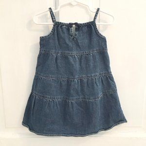 GAP Denim Strappy Dress SIZE 2T